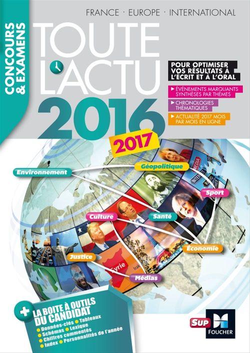 Toute l'actu 2016 sujets et chiffres de l'actualite 2016 - concours & examens
