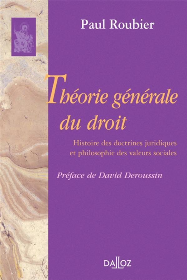 Theorie Generale Du Droit