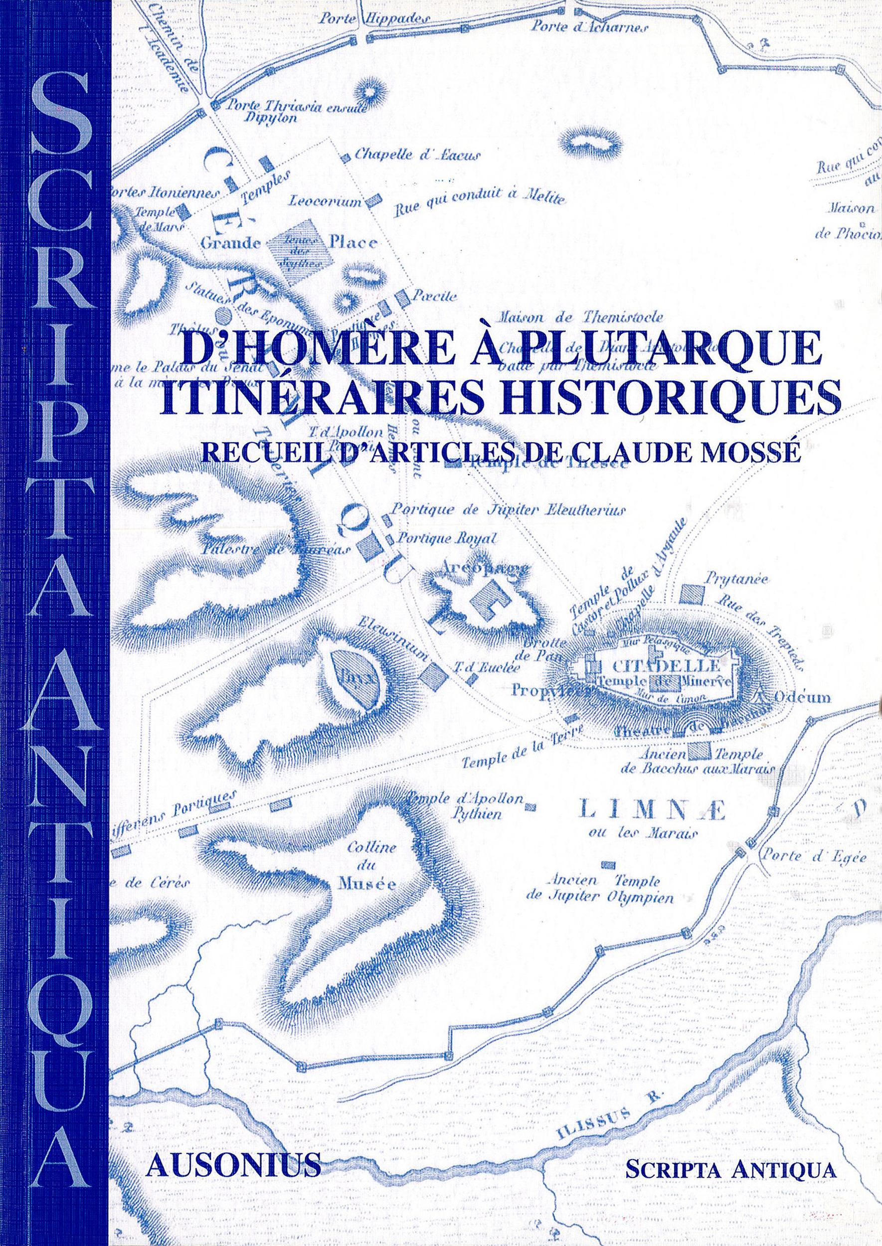 D´Homère à Plutarque. Itinéraires historiques