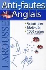Couverture de Anti-fautes d'anglais