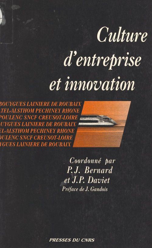 Culture d'entreprise et innovation