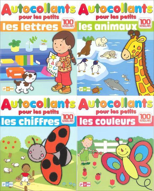 Autocollants pour les petits: chiffres ; animaux ; lettres ; couleurs
