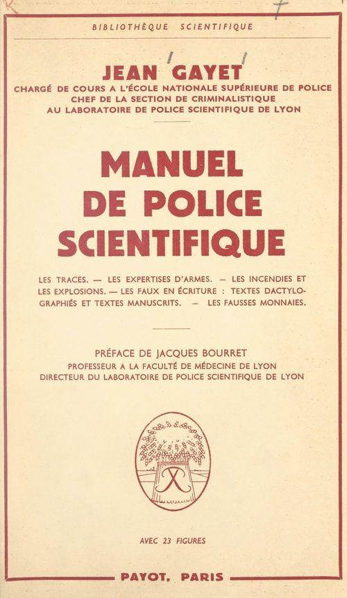 Manuel de police scientifique