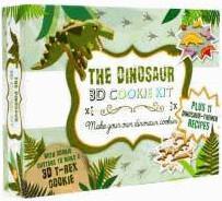 Coffret 3D ; biscuits dinosaures