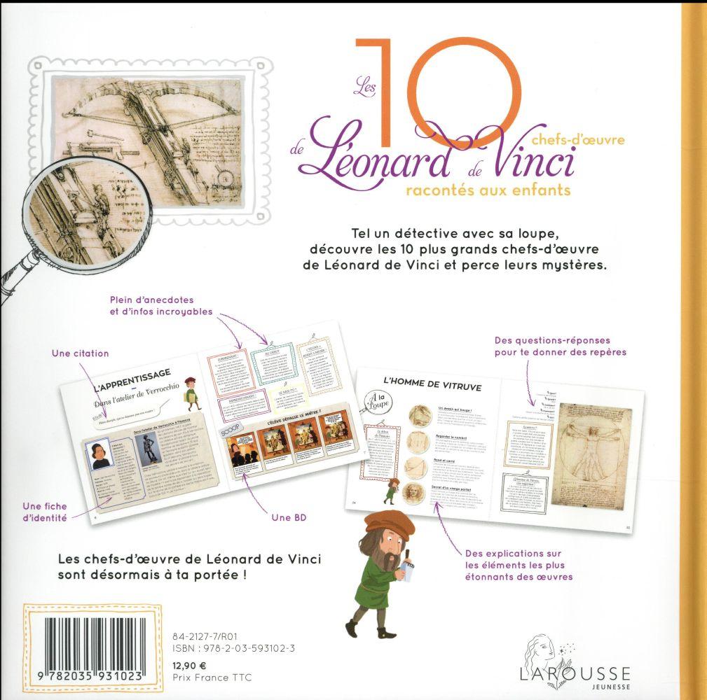 Les 10 plus belles chefs-d'oeuvre de Léonard de Vinci racontés aux enfants