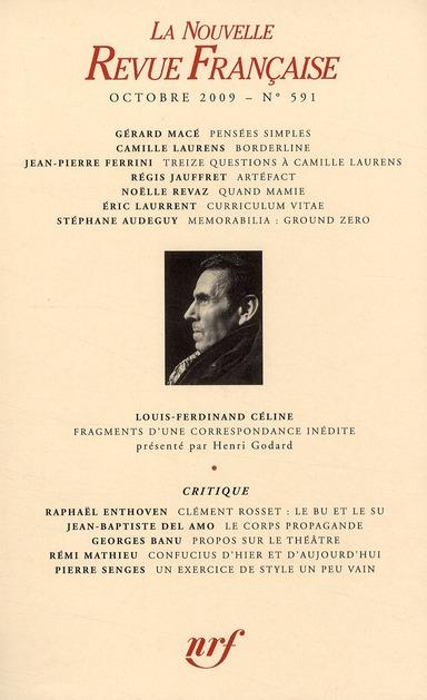 La nouvelle revue francaise ; octobre 2009
