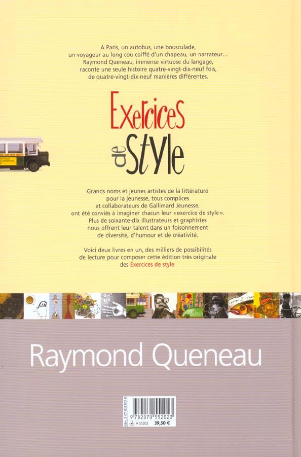 Exercices De Style Raymond Queneau Gallimard Jeunesse Grand Format Sauramps