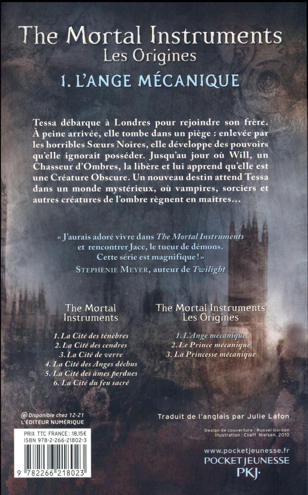 The mortal instruments - les origines T.1 ; l'ange mécanique