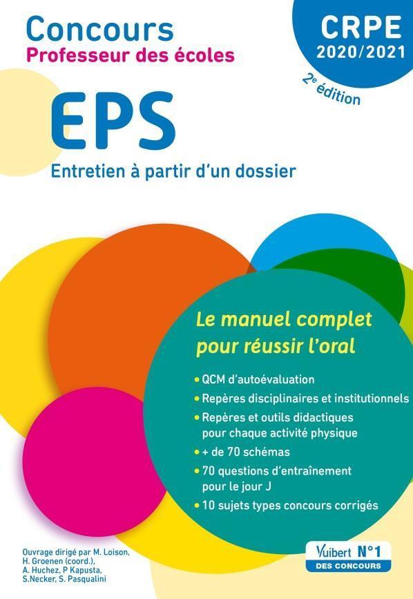 CRPE ; concours professeur des écoles ; EPS, entretien à partir d'un dossier (édition 2020/2021)