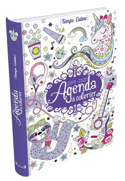 Agenda à colorier (édition 2019/2020)