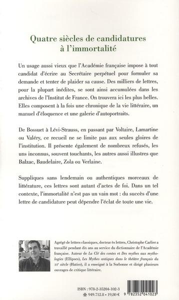 Lettres à l'Académie Française