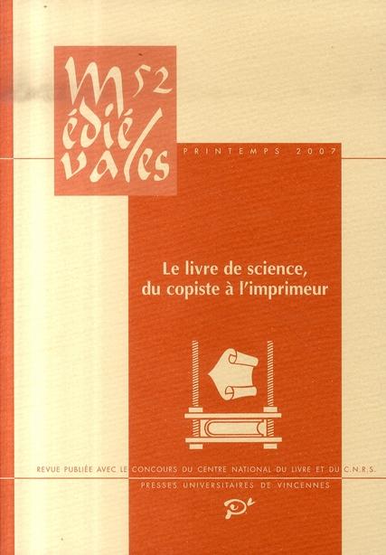 Le livre de science, du copiste à l'imprimeur