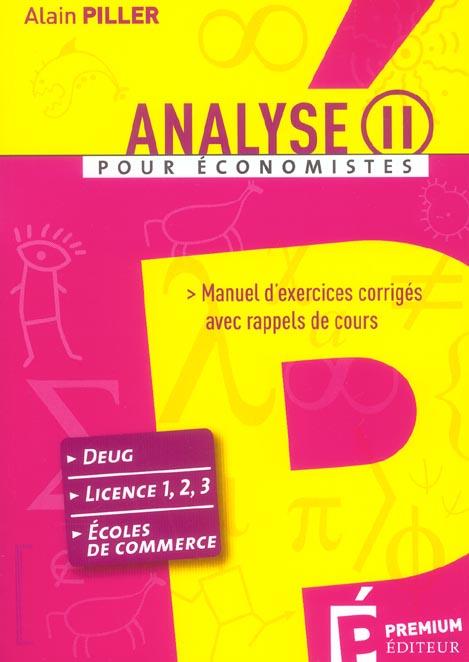 Analyse ii