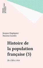 Vente Livre Numérique : Histoire de la population française (3)  - Jacques Dupaquier