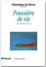 Vente EBooks : Poussière de vie  - Christian de Duve