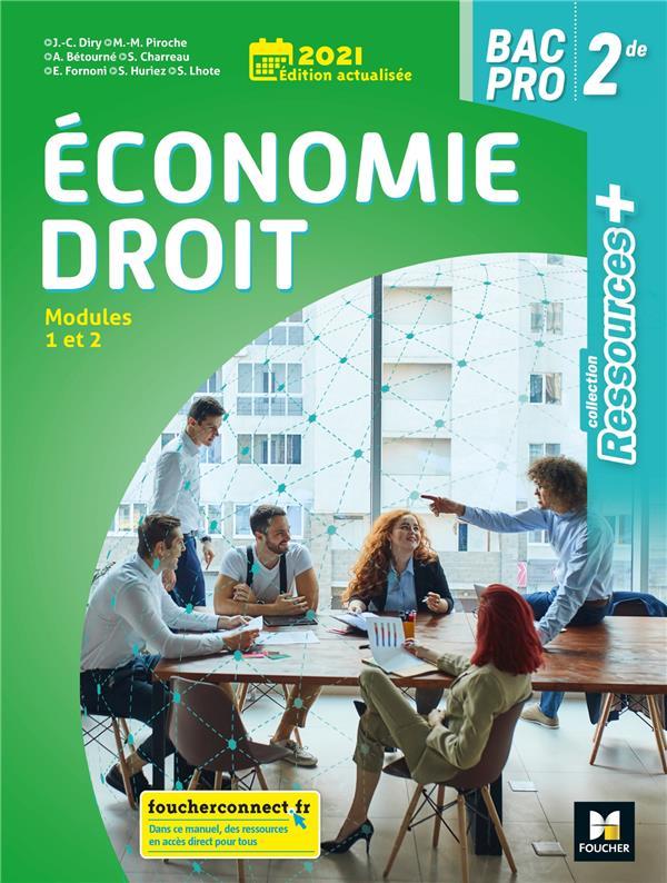 RESSOURCES + ; économie-droit ; 2de bac pro ; livre de l'élève (édition 2021)