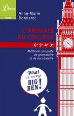 L'anglais au collège  - Anne-Marie Bonnerot