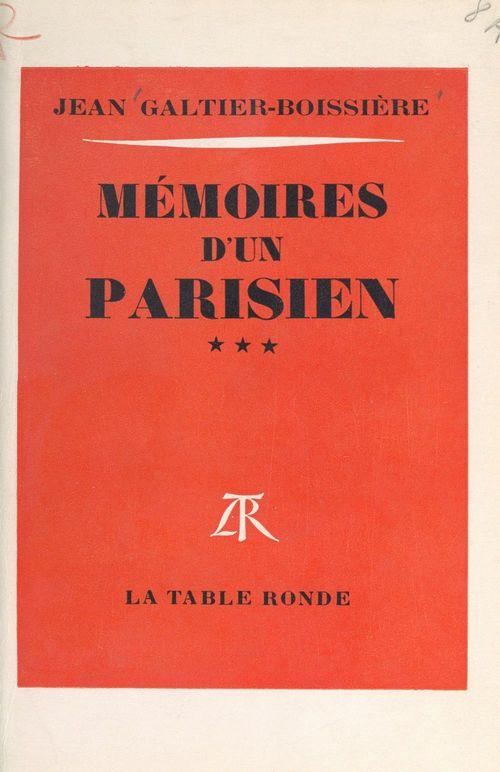 Mémoires d'un Parisien (3)