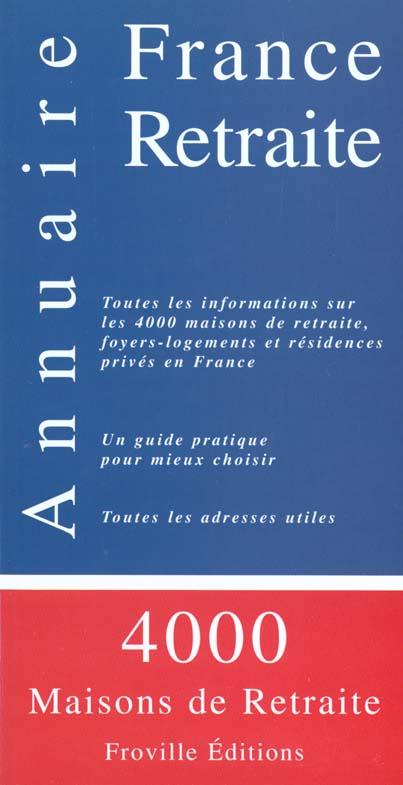 Annuaire france retraite (édition 2000)