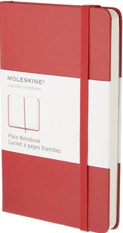 Carnet blanc - format de poche - couverture rigide rouge