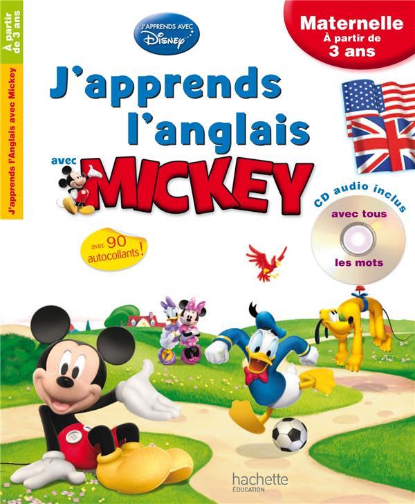 J'apprends l'anglais avec Mickey ; maternelle ; à partir de 3 ans