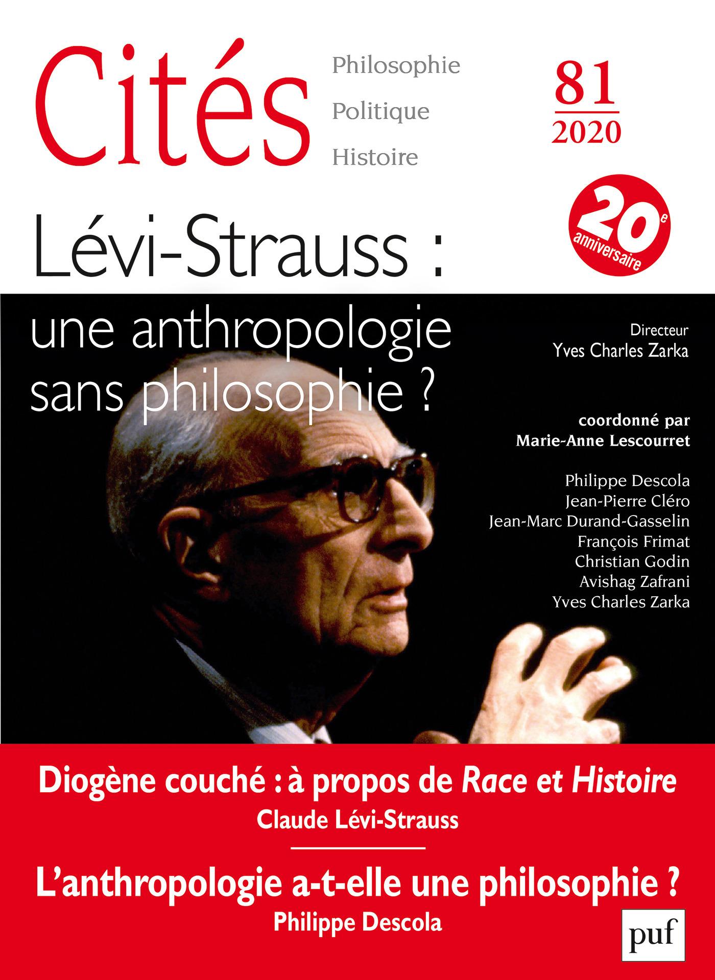 Lévi-Strauss : une anthropologie sans philosophie ? (édition 2020)