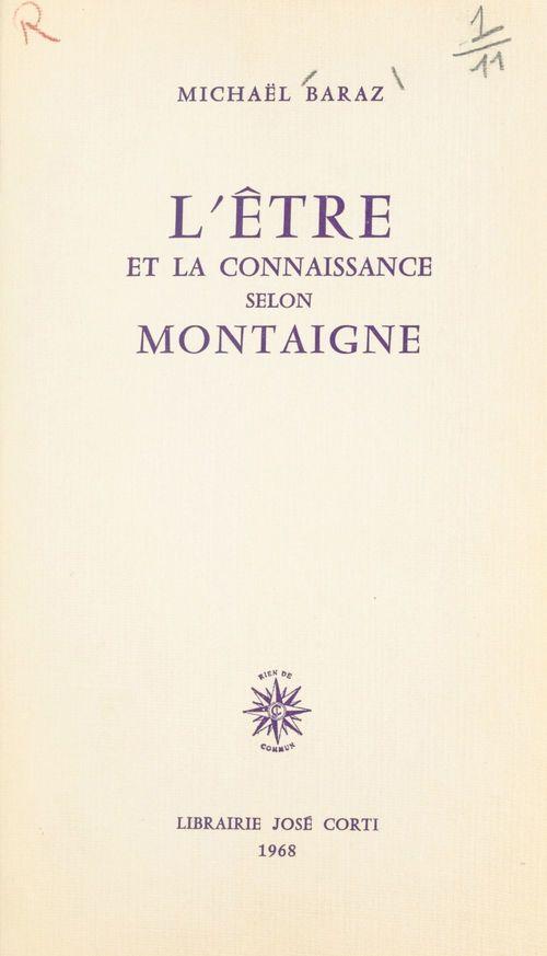 L'être et la connaissance selon Montaigne