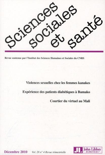 Revue sciences sociales et sante t.28/4; decembre 2010