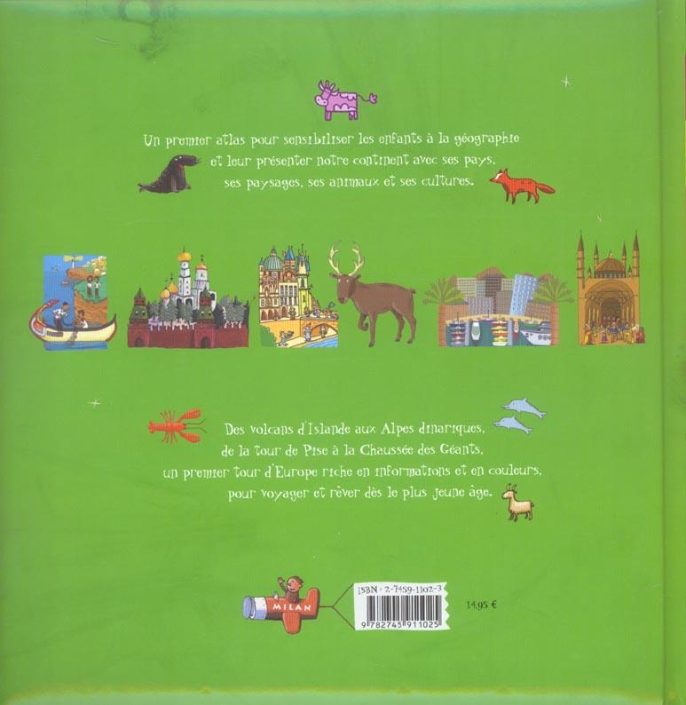mon premier tour d'Europe ; l'atlas des 5-8 ans