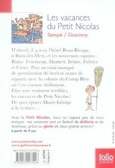 Le Petit Nicolas ; les vacances du petit Nicolas