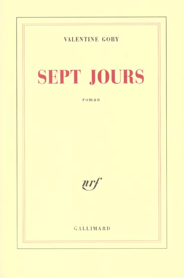 Sept jours roman