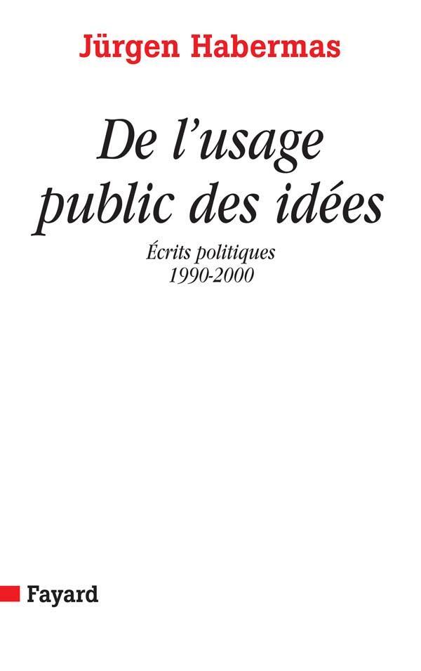De l'usage public des idees