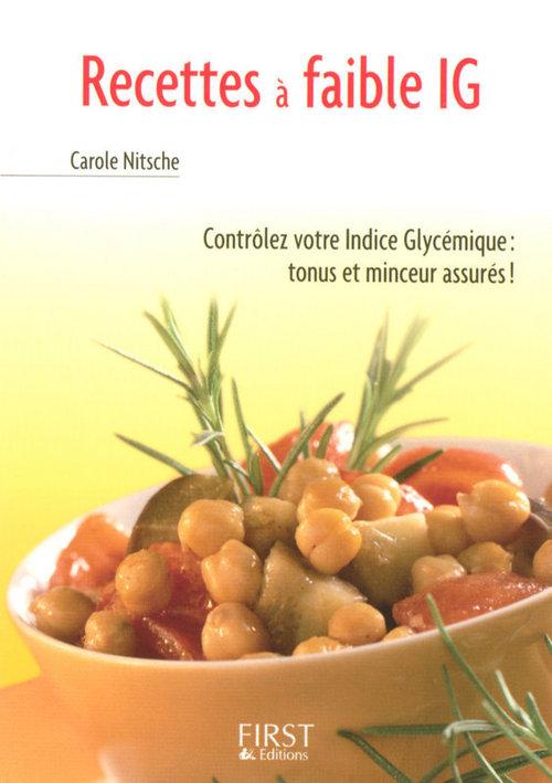 recettes à faible IG ; contrôler votre indice glycémique