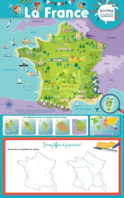 POSTER-ARDOISE  -  LA FRANCE (EDITION 2018)