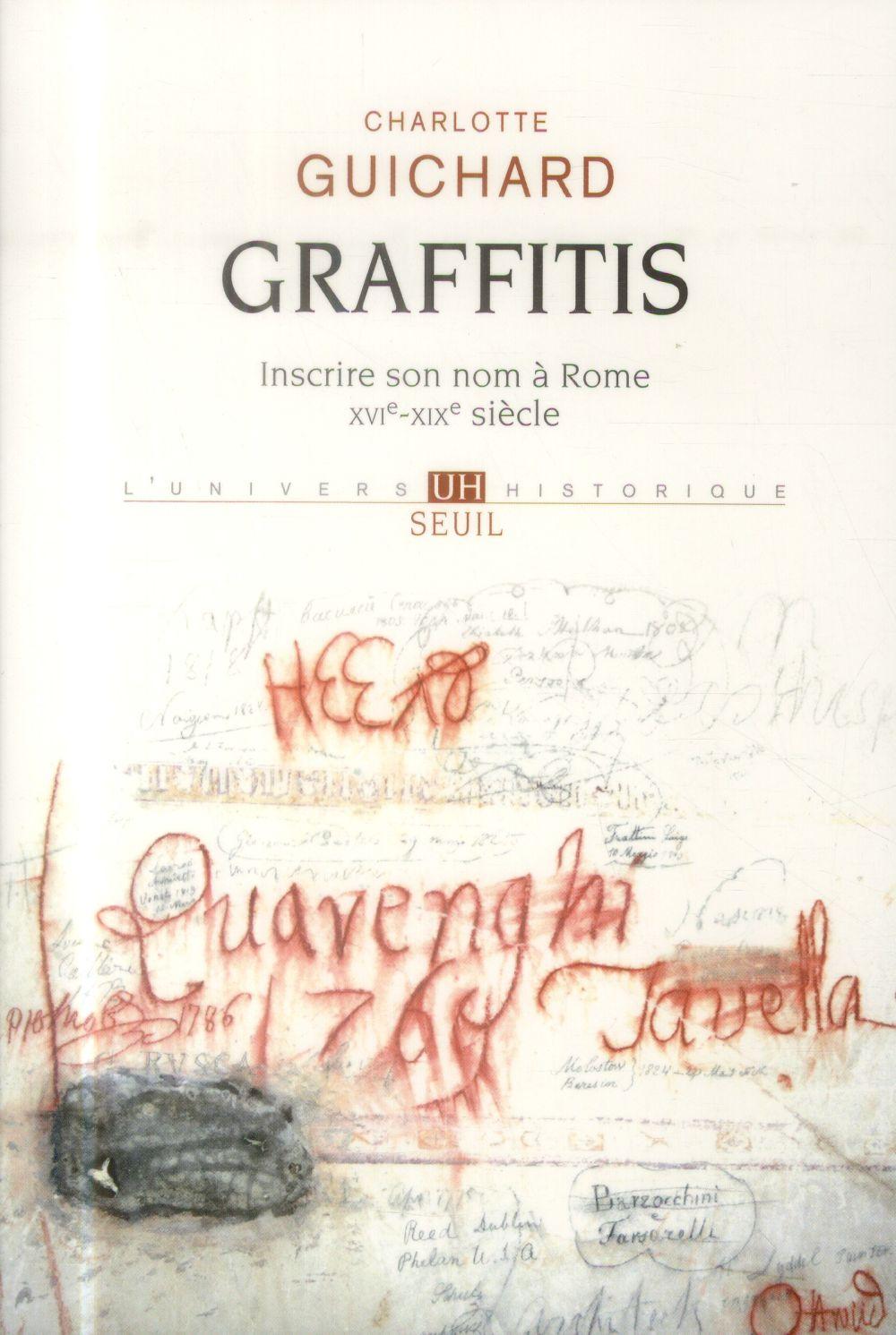 Graffitis ; inscrire son nom à Rome (XVIe-XIXe siècles)