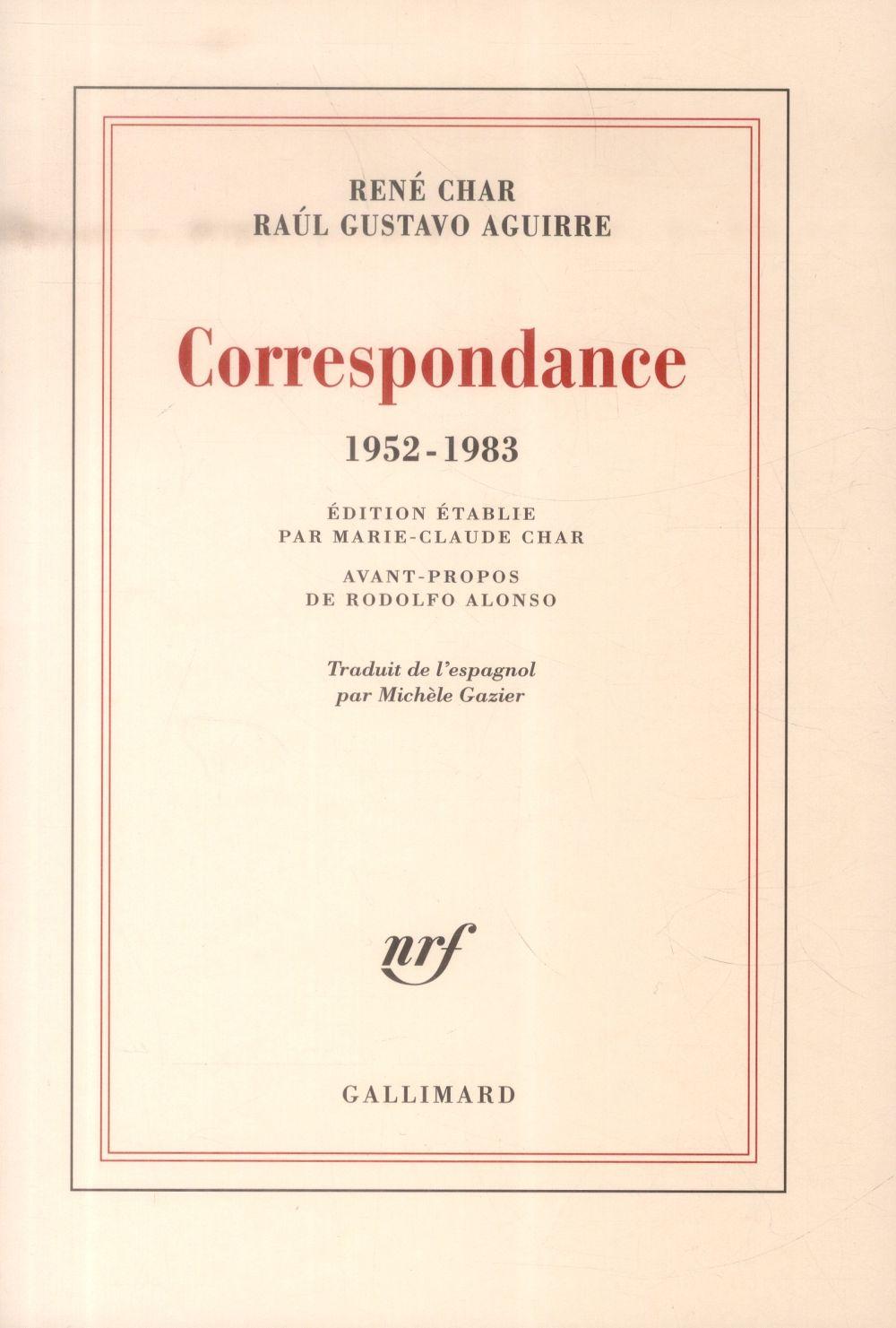 Correspondance, 1952-1983