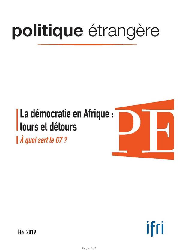 Politique etrangere n  2/2019 la democratie -  juin 2019