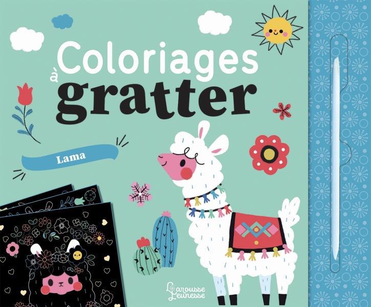Coloriages a gratter ; lama