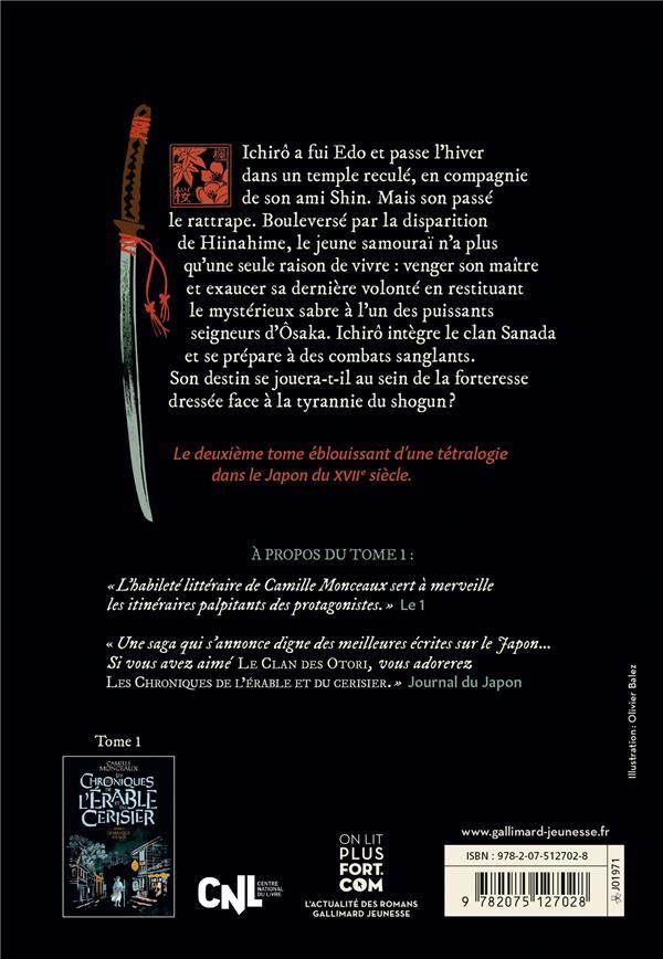 Les chroniques de l'érable et du cerisier t.2 ; le sabre des Sanada