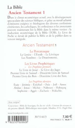 La Bible ; ancien testament t.1