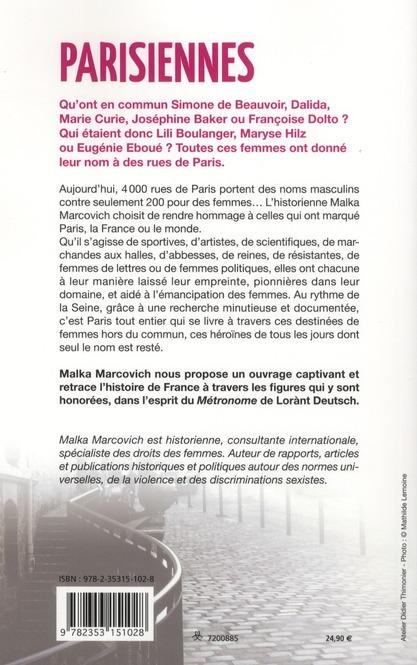 Parisiennes ; de Marie Stuart à Simone de Beauvoir, ces femmes qui ont inspiré les rues de la capitale