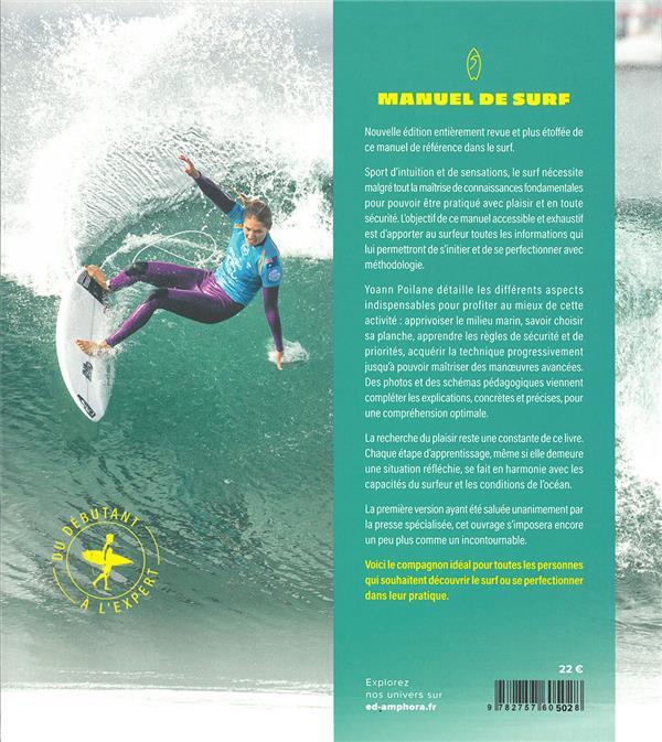 manuel de surf : connaissance du milieu, technique et apprentissage