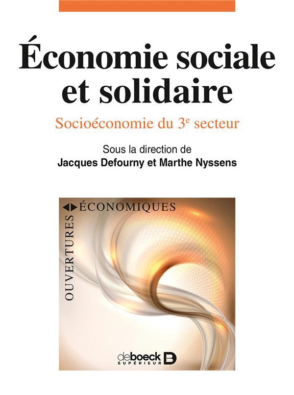 économie sociale et solidaire ; socioéconomie du 3e secteur