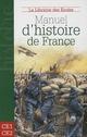 MANUEL D'HISTOIRE DE FRANCE CM1-CM2