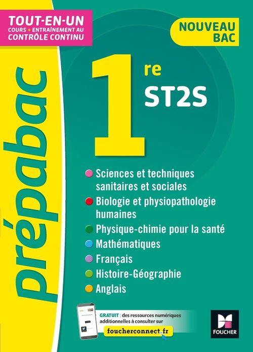 Prépabac 1re ST2S - Toutes les matières - Cours et contrôle continu
