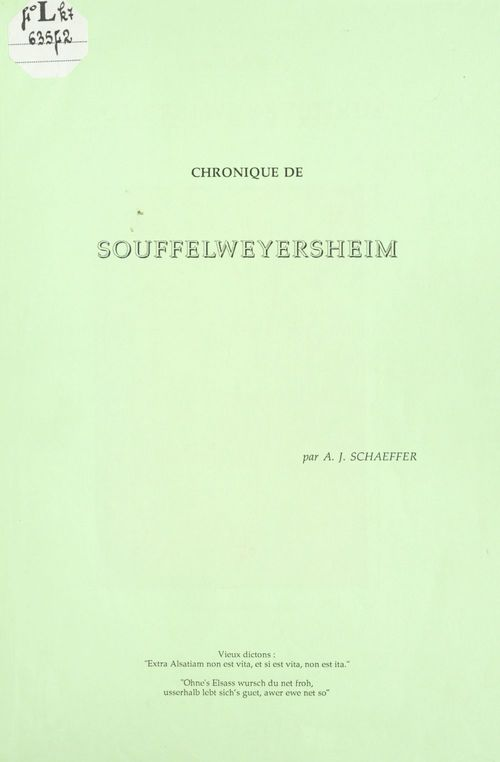 Chronique de Souffelweyersheim