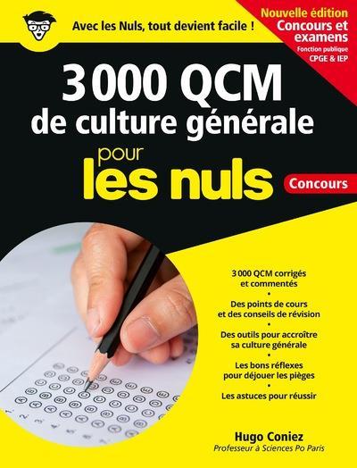 3 000 Qcm De Culture Generale Pour Les Nuls ; Concours