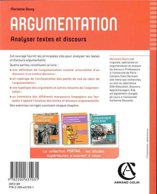 Argumentation ; analyser textes et discours (2e édition)
