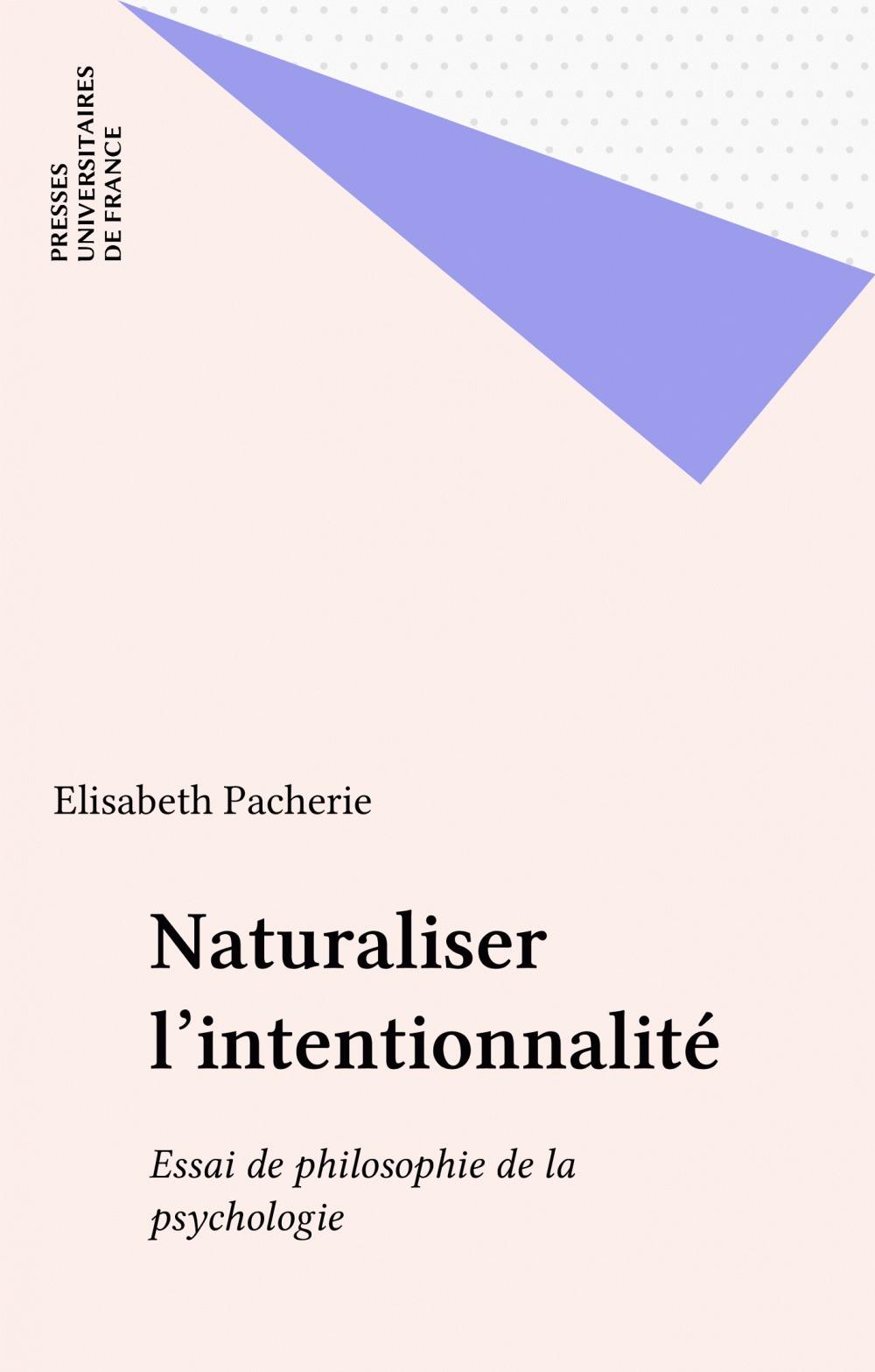 Naturaliser l'intentionnalite