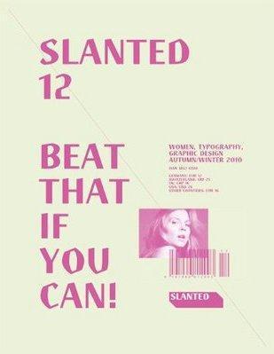 Revue slanted t.12 ; women, typography, graphic design